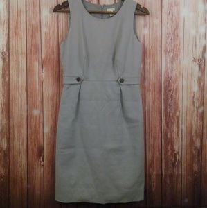 J CREW gray sheath dress size 2